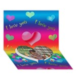 3d heart card_love you - Heart Bottom 3D Greeting Card (7x5)