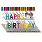 chaya - Happy Birthday 3D Greeting Card (8x4)