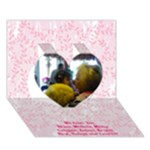 card Mom-Mom - Heart 3D Greeting Card (7x5)