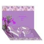 General Purpose Iris Love 3d Card - LOVE Bottom 3D Greeting Card (7x5)