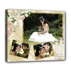 Cream wedding/celebration Deluxe 24x20 Stretched Canvas - Deluxe Canvas 24  x 20  (Stretched)