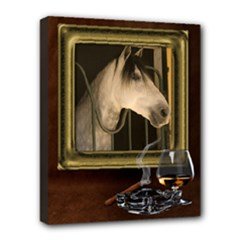 Study Portrait Deluxe 20x16 Stretched Canvas - Deluxe Canvas 20  x 16  (Stretched)