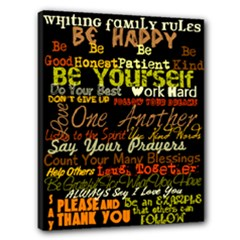 family rules - Canvas 20  x 16  (Stretched)