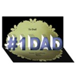 No 1 father 3d Card - #1 DAD 3D Greeting Card (8x4)