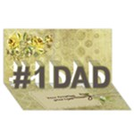For Dad 3d Card - #1 DAD 3D Greeting Card (8x4)