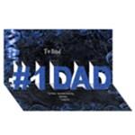 My Dad 3D Card - #1 DAD 3D Greeting Card (8x4)
