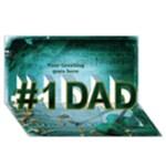 Love My Dad 3d Card - #1 DAD 3D Greeting Card (8x4)