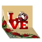 Love 3d Card - LOVE 3D Greeting Card (7x5)