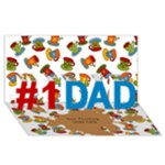 Love you Dad 3d Card - #1 DAD 3D Greeting Card (8x4)