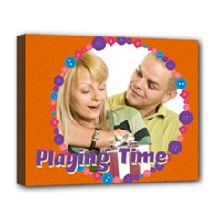 playing time - Deluxe Canvas 20  x 16  (Stretched)