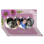Lace Twin Hearts General 3D Card - Twin Hearts 3D Greeting Card (8x4)