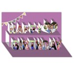Birthday Card - Happy Birthday 3D Greeting Card (8x4)