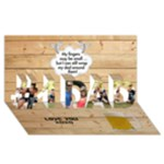 Love Number 1 Dad 3D Card - #1 DAD 3D Greeting Card (8x4)
