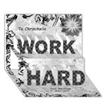 Work Hard 3D Card - WORK HARD 3D Greeting Card (7x5)