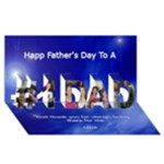 Father s day card - #1 DAD 3D Greeting Card (8x4)