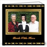 Beautiful Black and Gold 12x12 Book (20 Pages) - 12x12 Photo Book (20 pages)