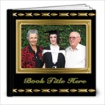 Beautiful Black and Gold 8x8 Book (20 Pages) - 8x8 Photo Book (20 pages)
