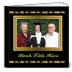 Beautiful Black and Gold Deluxe 8x8 Book (20 Pages) - 8x8 Deluxe Photo Book (20 pages)