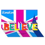 Believe London 3d Card - BELIEVE 3D Greeting Card (8x4)