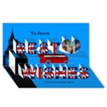 Best Wishes London 3d Card - Best Wish 3D Greeting Card (8x4)