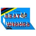Best Wishes London 2 3d Card - Best Wish 3D Greeting Card (8x4)
