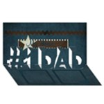 abba - #1 DAD 3D Greeting Card (8x4)