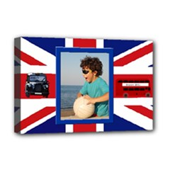 England Deluxe 18x12 Stretched Canvas - Deluxe Canvas 18  x 12  (Stretched)
