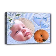 Baby Boy Deluxe 18x12 Stretched Canvas - Deluxe Canvas 18  x 12  (Stretched)