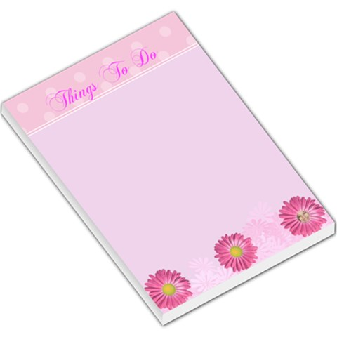 Pink Daisy Things To Do Memo Pad By Kim Blair   Large Memo Pads   Bopj5bqgd2lw   Www Artscow Com
