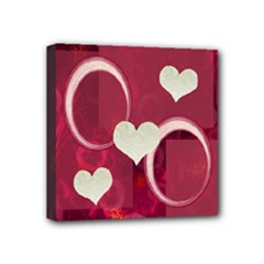 Love Pink Mini Canvas 4x4 - Mini Canvas 4  x 4  (Stretched)