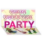 Invite Party - PARTY 3D Greeting Card (8x4)