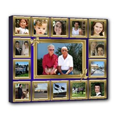 My Family Deluxe Canvas 24x20 Stretched - Deluxe Canvas 24  x 20  (Stretched)