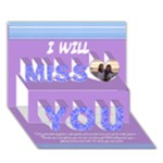 miss you! - Miss You 3D Greeting Card (7x5)