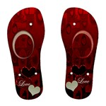 Red Love Women Flip Flops - Women s Flip Flops