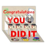 Congrats BE - You Did It 3D Greeting Card (7x5)