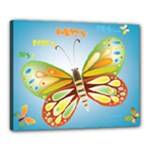blue butterfly 20x16 - Canvas 20  x 16  (Stretched)