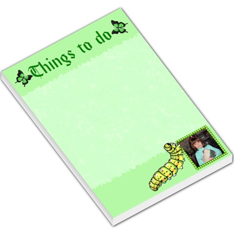Green Things To Do Large Memo Pad By Kim Blair   Large Memo Pads   Wkxm79x9ylha   Www Artscow Com