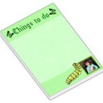 Green things to do Large memo Pad - Large Memo Pads