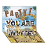 Adrian2 - YOU ARE INVITED 3D Greeting Card (7x5)