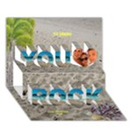 You rock Beach 3D Card - You Rock 3D Greeting Card (7x5)