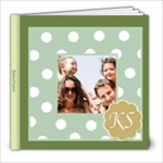 Monogram -- Baby Book Sample -- Blue Green - 8x8 Photo Book (20 pages)