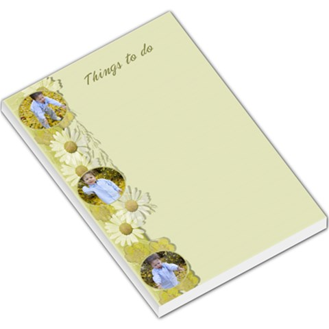 Things To Do Large Memo By Deborah   Large Memo Pads   Nnm5srm4vvua   Www Artscow Com