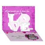 Pink Love Card - LOVE 3D Greeting Card (7x5)