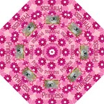 Pink Daisy and Heart umbrellas - Folding Umbrella