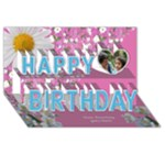My Floral happy Birthday 3d Card - Happy Birthday 3D Greeting Card (8x4)