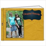 gold and navy - 9x7 Photo Book (20 pages)