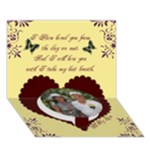 To My Husband - Circle Bottom 3D Greeting Card (7x5)
