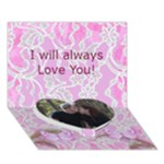 I Love you card - Heart Bottom 3D Greeting Card (7x5)