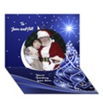 Christmas 3D Circle Card (7x5) 3 - Circle 3D Greeting Card (7x5)