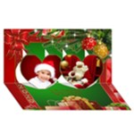 Christmas Heart 3D Card 2015 - Twin Hearts 3D Greeting Card (8x4)